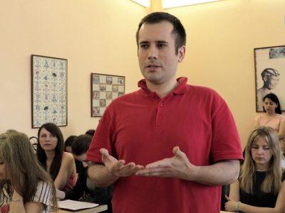 Запитання відвідувачів презентації до Павла-Роберта Маґочія.