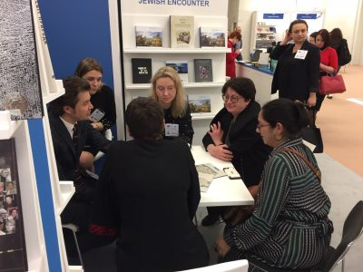 Discussions taking place at the London Book Fair.