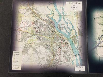 Німецька схематична мапа Києва, 1941-й рік.
