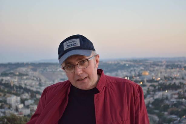 1. Vasyl Makhno in Jerusalem. Photo courtesy by Vasyl Makhno