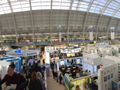 Overview of stands at the London Book Fair.