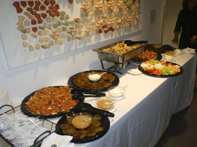 Ukrainian-Jewish food served at the opening reception