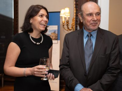 Olena Sidlovych, Director, Ukrainian Institute of America (left) and Walter Hoydysh, Vice President and program director of the Ukrainian Institute (right).