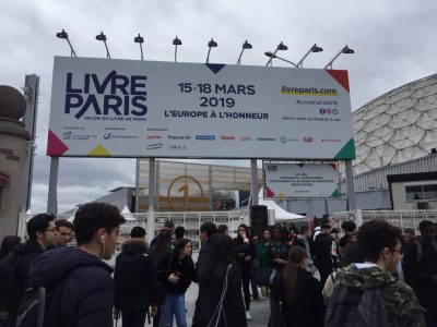 Entrance to the Salon du Livre de Paris/Paris Book Fair.