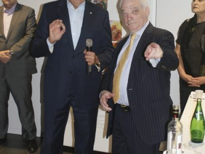 UJE founder and Chair James Temerty and UJE Board member Berel Rodal