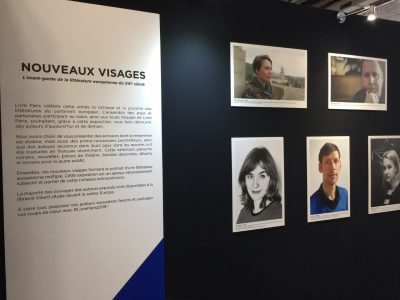 "Ukrainian writer Sofia Andrukhovych (top left) was featured as one of the new faces of European literature at the Salon du Livre de Paris/Paris Book Fair. Andrukhovych is one of the authors whose works are featured in the UJE-supported publication ""The Key in the Pocket""."