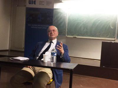 UJE Board Member, Wolf Moskovich.