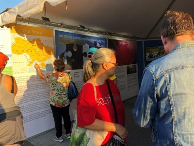 UJE's cultural pavilion attracted close to 1,500 visitors at the 2018 Toronto Ukrainian Festival.