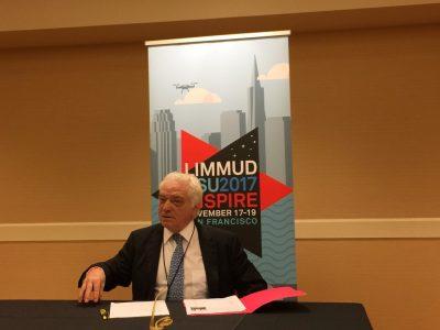 """Член Ради директорів UJE Берел Родал, Конференція """"Limmud FSU Inspire 2017"""", 19 листопада 2017-го року, Окленд, Каліфорнія."""