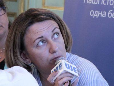"""Мар'яна Максим'як, директор проекту """"Літературний центр імені Аґнона""""."""