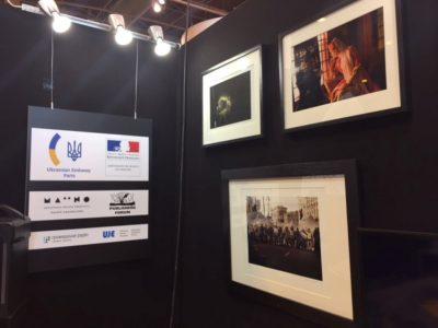 Український стенд на Міжнародному Паризькому книжковому салоні.