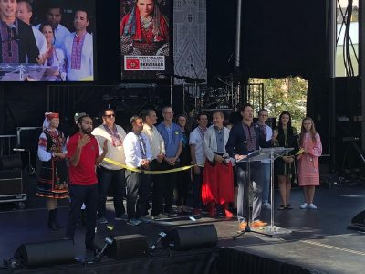 The Right Honorable Justin Trudeau, Prime Minister of Canada, delivering opening remarks at the 2018 Toronto Ukrainian Festival. (Photo: Toronto Ukrainian Festival/Twitter)