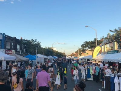 Street view of the 2018 Toronto Ukrainian Festival.