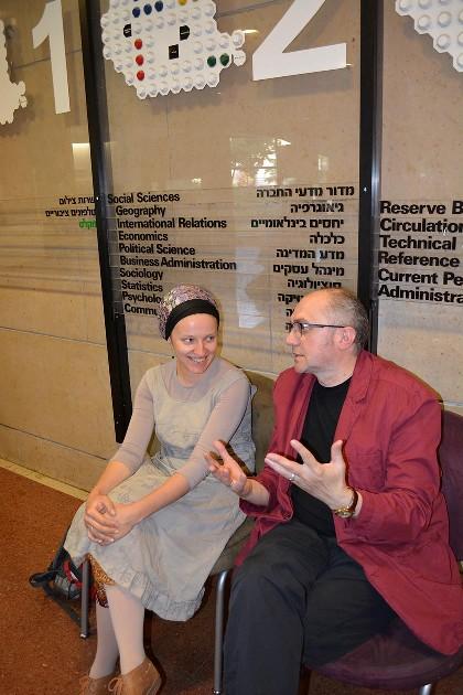5. Miriam Feyga Bunimovich and Vasyl Makhno at the Hebrew University2C Jerusalem. Photo courtesy by Vasyl Makhno