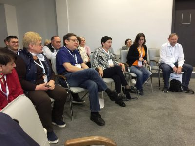 Discussion during the panel discussing Ukrainian-Jewish relations in the past, present, and future, Limmud Ukraine, Odessa, October 21, 2017.