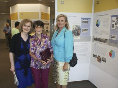 L to R: UJE Co-Director Alti Rodal, Paulina Zelitsky, author of Odessaphile, and Iryna Korpan, Ukrainian TV host and film producer