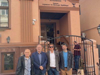 Зліва направо: Марк Бєлорусець, Петро Рихло, Андрій Любка та Томер Дотан-Дрейфус.