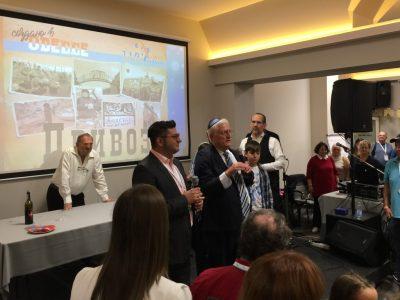 """Хаїм Чеслер співзасновник """"Лімуд FSU"""" (праворуч) та Роман Коган, виконавчий директор організації (ліворуч), Одеса, 21 жовтня 2017 р."""