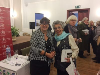 Natalia A. Feduschak, Director of Communications, Ukrainian Jewish Encounter (left) and Lili Stern-Pohlmann (right).