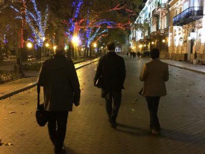 Вечір в Одесі, Україна, 21 жовтня 2017 року.