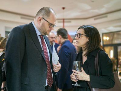 Volodymyr Borodiansky, Minister of Culture of Ukraine (left); Larisa Galadza, Ambassador of Canada to Ukraine (right).
