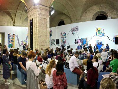 Аудиторія під час дискусії «Містечко: разом та окремо».