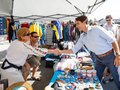 The Right Honorable Justin Trudeau, Prime Minister of Canada, greeting festival participants. (Photo:  CanadianPM/Twitter)
