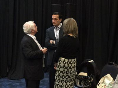 Берел Родаль, співзасновник Канадійського благодійного фонду «Українсько-єврейська зустріч», член ради директорів UJE (ліворуч) звертається до Метью Бронфмана, Голови Міжнародної кординаційної Ради керівного комітету Лімуд СНД під час конференції Лімуд СНД в місті Ейлат (Ізраїль); разом із Алті Родаль, співдиректор UJE (праворуч).