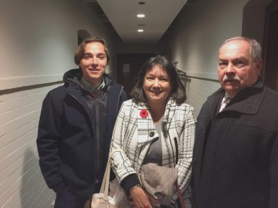 After Andriy Lyubka's presentation at the Munk School of Global Affairs, November 7, 2017. Andriy Lyubka (left); Natalia A. Feduschak, Director of Communications, Ukrainian Jewish Encounter (middle); Maxim Tarnawsky (right), Professor, Department of Slavic Languages and Literatures, University of Toronto