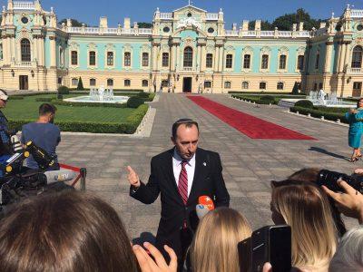 Шимон Бріман розповідає в Маріїнському палаці про відносини Ізраїль-Україна