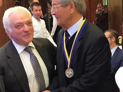 Берел Родал, член наглядової ради «Українсько-єврейської зустрічі» та Іван Дзюба.